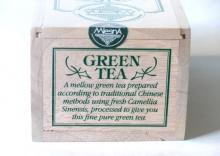 Čaje Mlesna Green tea dřevěný box 200g MLESNA (Ceylon) Ltd. pravý čaj z Cejlonu
