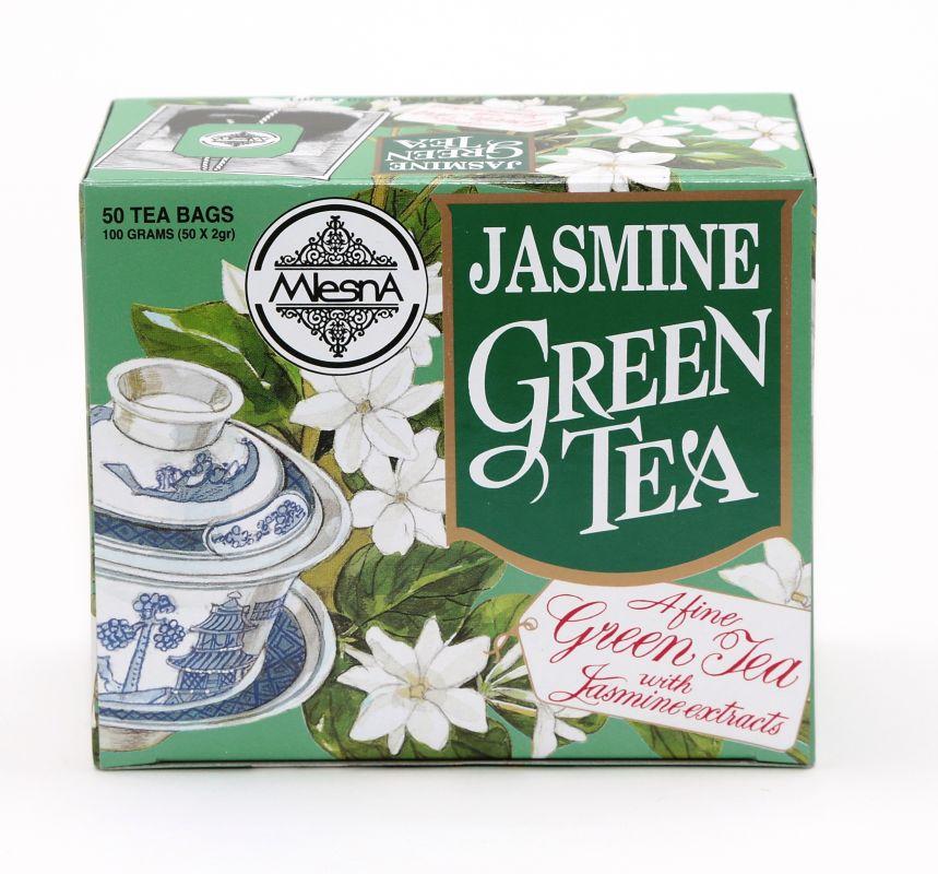 Čaje Mlesna Zelený čaj jasmín, čaj pro zdravý životní styl MLESNA (Ceylon) Ltd. pravý čaj z Cejlonu