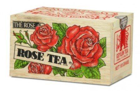 Čaje Mlesna Exkluzivní černý sypaný čaj s přírodní esencí z růží MLESNA (Ceylon) Ltd. pravý čaj z Cejlonu