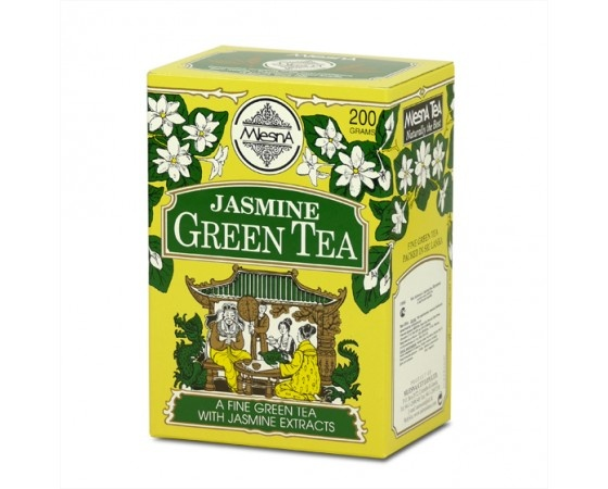 Čaje Mlesna Zelený čaj jasmín 200g MLESNA (Ceylon) Ltd. pravý čaj z Cejlonu
