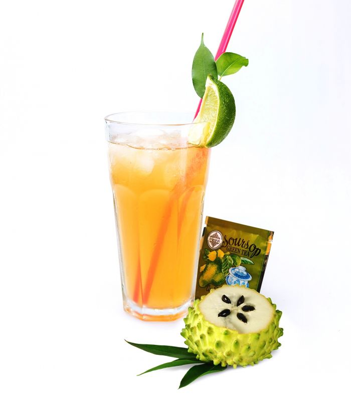 Čaje Mlesna Cejlonský zelený čaj nejvyšší kvality s přírodním extraktem soursopu MLESNA (Ceylon) Ltd. pravý čaj z Cejlonu