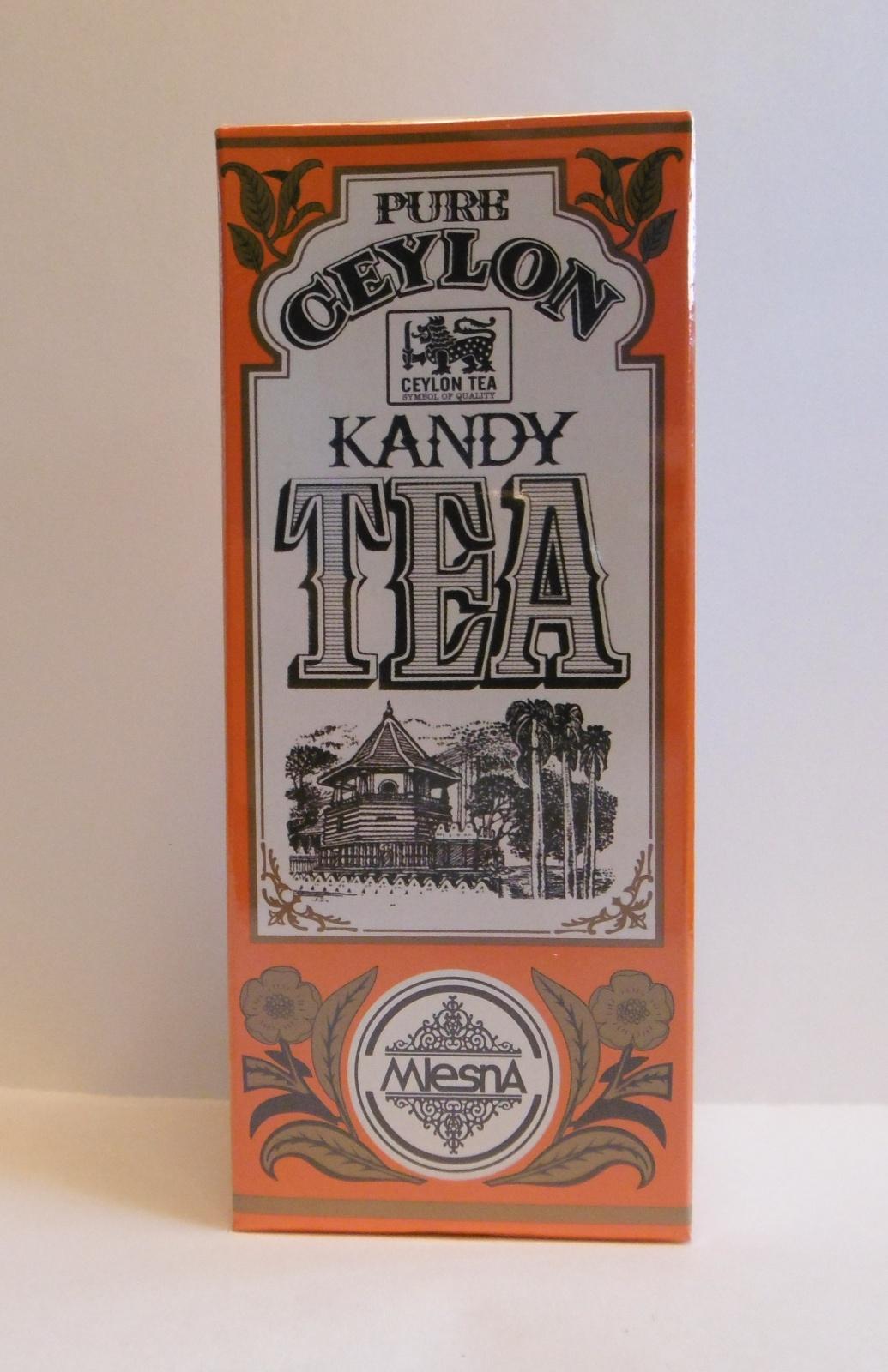 Čaje Mlesna Cejlonský čaj z oblasti KANDY, nejkvalitnější lístky z čajovníku MLESNA (Ceylon) Ltd. pravý čaj z Cejlonu