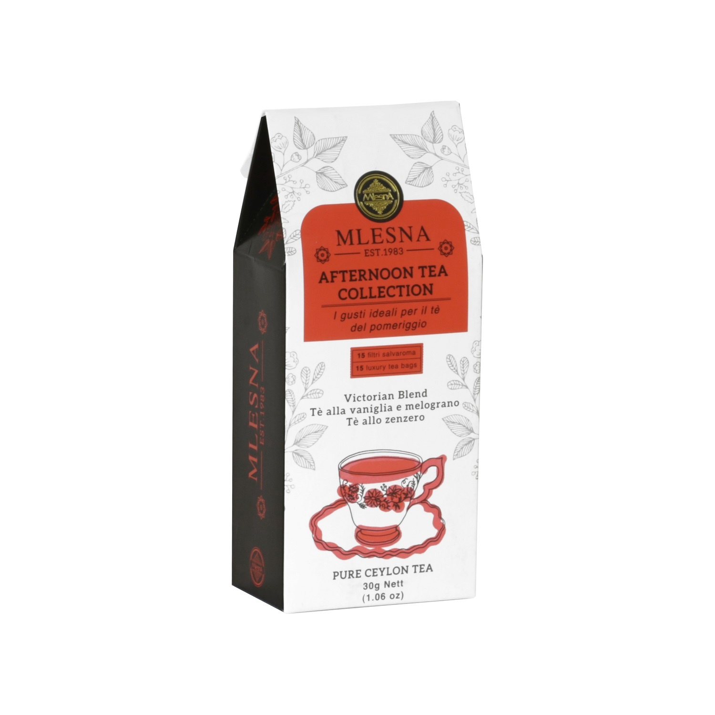 Čaje Mlesna Odpolední čajová kolekce Monks, Victoria, Zázvor 15x2g MLESNA (Ceylon) Ltd. pravý čaj z Cejlonu