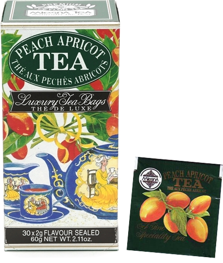 Čaje Mlesna Černý čaj nejvyšší kvality s přírodní esencí meruněk a broskví MLESNA (Ceylon) Ltd. pravý čaj z Cejlonu