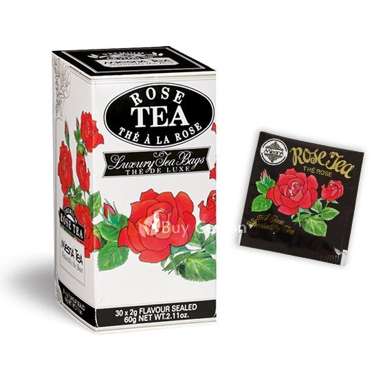 Čaje Mlesna Černý cejlonský čaj nejvyšší kvality s přírodní esencí růží MLESNA (Ceylon) Ltd. pravý čaj z Cejlonu