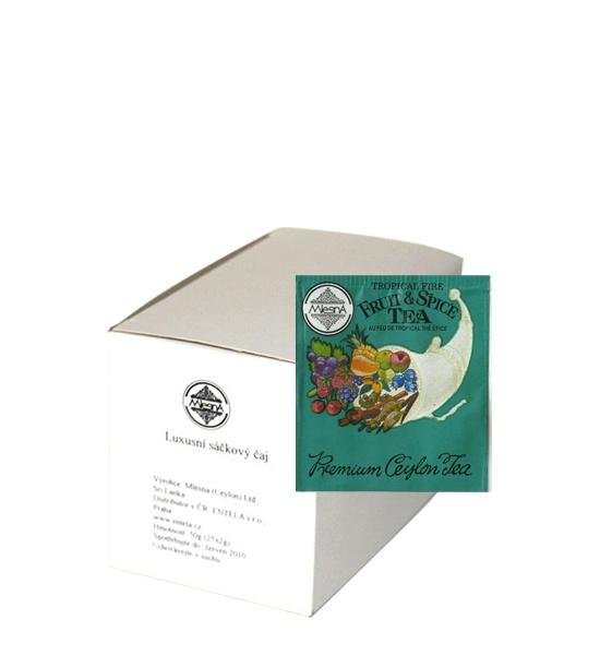 Čaje Mlesna Černý cejlonský čaj nejvyšší kvality s přírodní esencí ovoce a koření MLESNA (Ceylon) Ltd. pravý čaj z Cejlonu