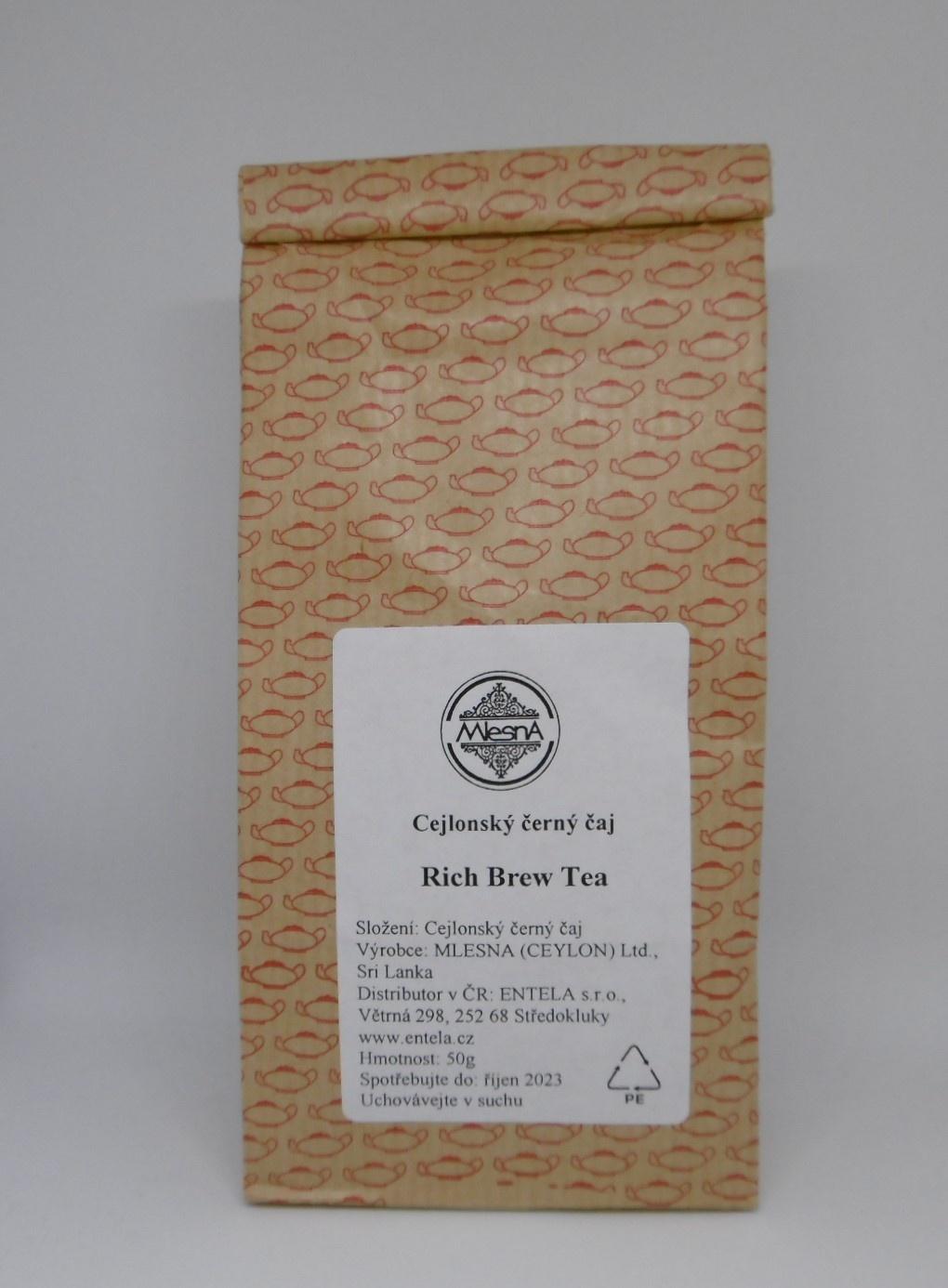 Čaje Mlesna Černý sypaný čaj Rich Brew Tea High Grown MLESNA (Ceylon) Ltd. pravý čaj z Cejlonu