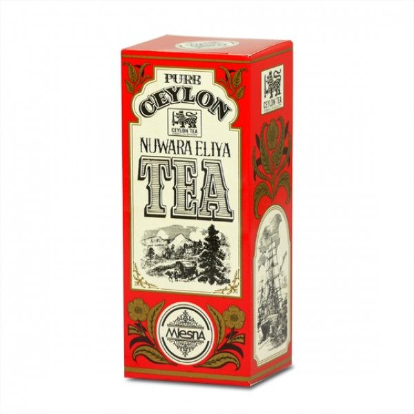 Čaje Mlesna Cejlonský čaj Nuwara Eliya, vysokohorský čaj MLESNA (Ceylon) Ltd. pravý čaj z Cejlonu