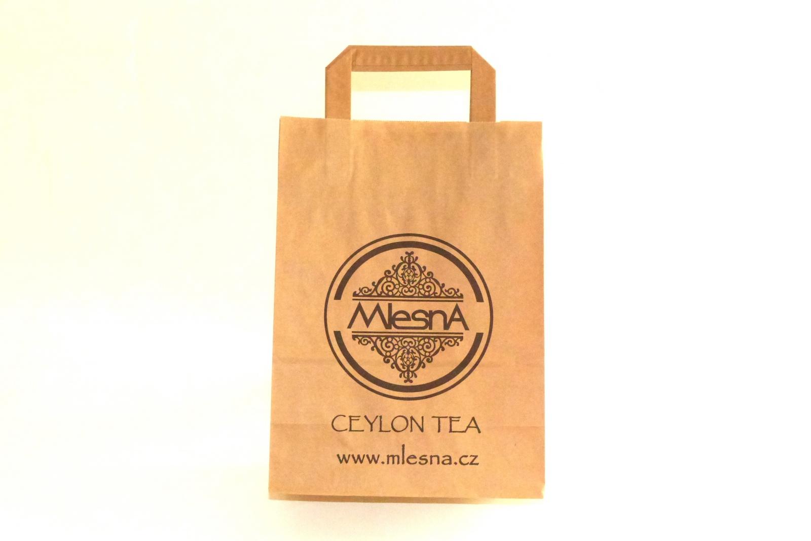 Čaje Mlesna Dárková taška z recyklovaného papíru - Mlesna pravý čaj z Cejlonu