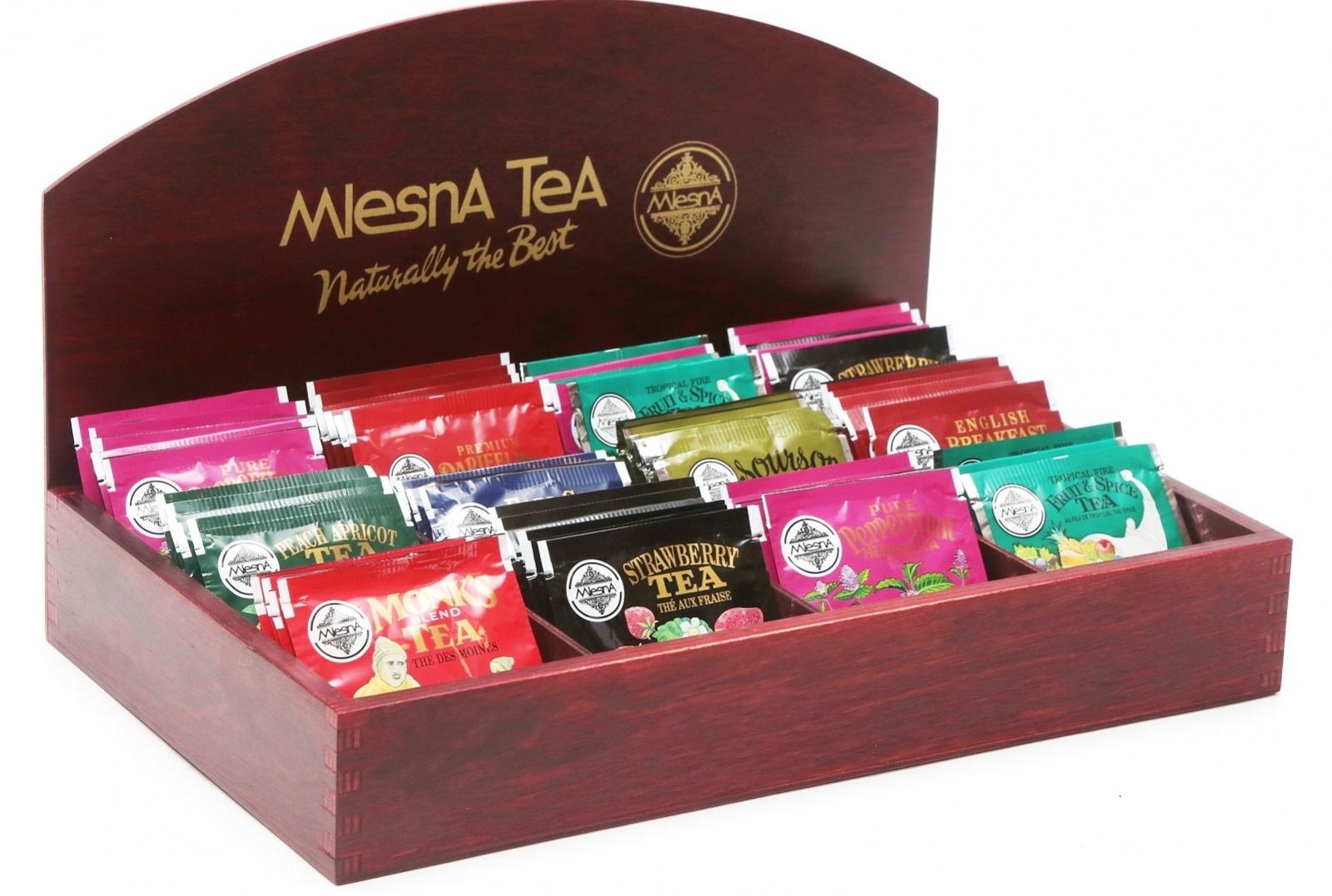 Čaje Mlesna Gastro kazeta - balení sáčkových čajů Mlesna, Entela s.r.o. pravý čaj z Cejlonu