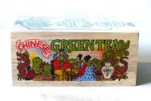 Zelený sypaný čaj v  dřevěném  boxu  200g