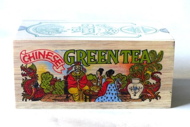 Čaje Mlesna Green tea dřevěný box 200g, originální dárkové balení MLESNA (Ceylon) Ltd. pravý čaj z Cejlonu