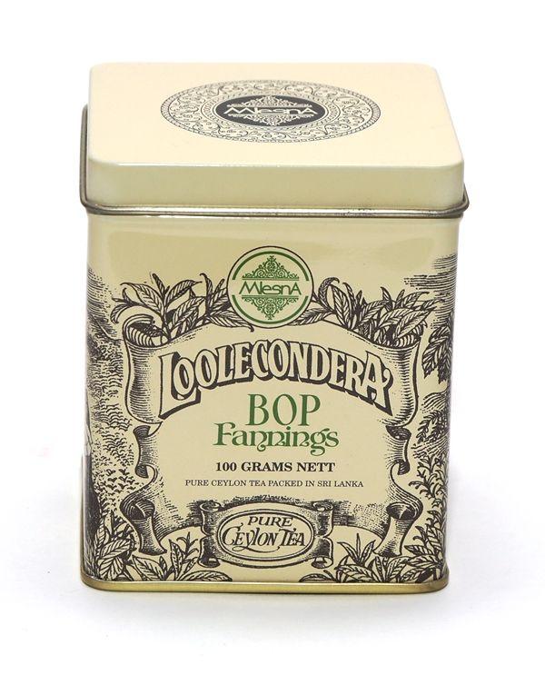 Čaje Mlesna Sypaný čaj z první čajové cejlonské plantáže Loolecondera MLESNA (Ceylon) Ltd. pravý čaj z Cejlonu