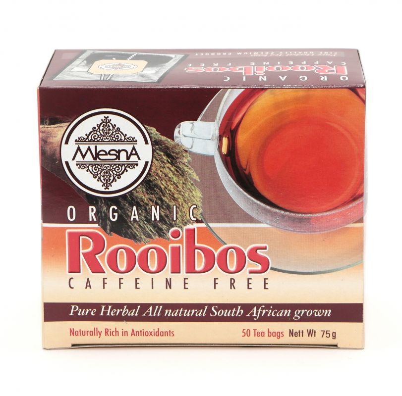 Čaje Mlesna Rooibos Organic, bylinný čaj plný vitamínů MLESNA (Ceylon) Ltd. pravý čaj z Cejlonu