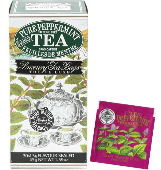 Čaje Mlesna Máta pravá, bylinný čaj pro zdravý životní styl MLESNA (Ceylon) Ltd. pravý čaj z Cejlonu