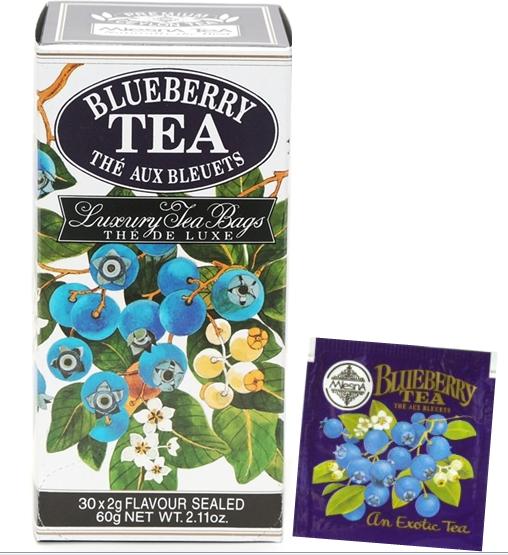Čaje Mlesna Černý cejlonský čaj nejvyšší kvality s přírodní esencí borůvek MLESNA (Ceylon) Ltd. pravý čaj z Cejlonu