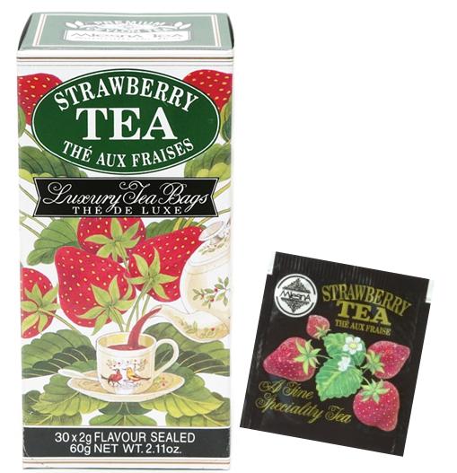 Čaje Mlesna Černý čaj nejvyšší kvality s přírodním extraktem z jahod MLESNA (Ceylon) Ltd. pravý čaj z Cejlonu