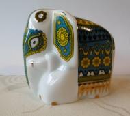 SLON z porcelánu s čajem Orange Pekoe 50g - MODRÝ