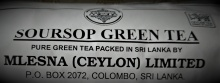 Čaje Mlesna SOURSOP - zelený čaj sypaný laminate 500g MLESNA (Ceylon) Ltd.Mlesna pravý čaj z Cejlonu