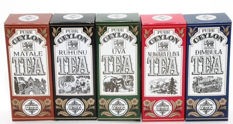 Čaje Mlesna Speciální kolekce regionálních cejlonských čajů 250g MLESNA (Ceylon) Ltd. pravý čaj z Cejlonu