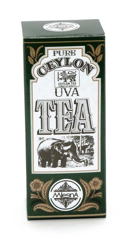 Čaje Mlesna Uva High Grown, vynikající sypaný černý čaj MLESNA (Ceylon) Ltd. pravý čaj z Cejlonu