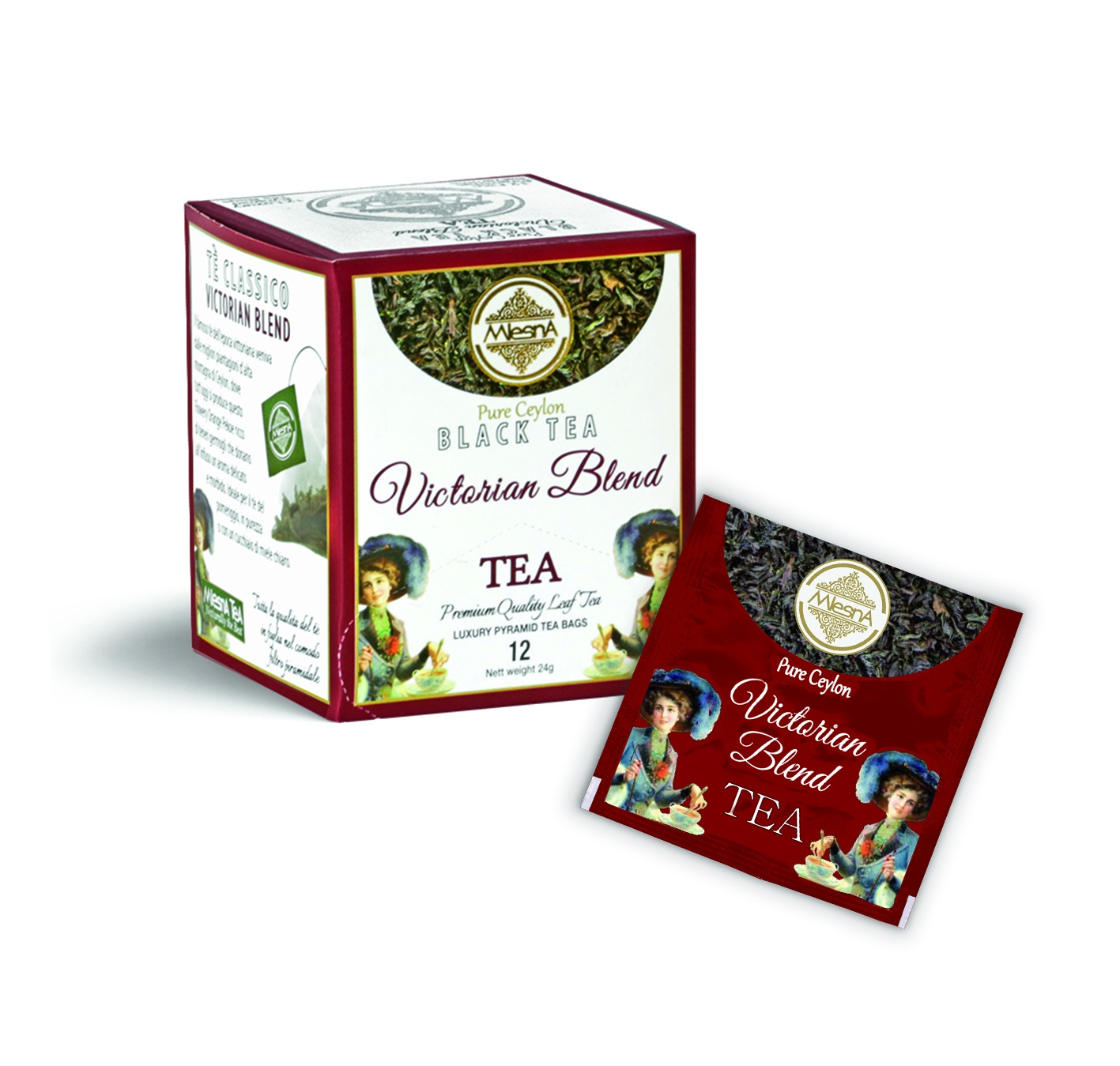 Čaje Mlesna Victorian - černý čaj - pyramida MLESNA (Ceylon) Ltd. pravý čaj z Cejlonu