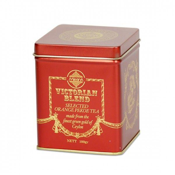 Čaje Mlesna Viktorian Blend Orange Pekoe Tea, originální dárek černého čaje MLESNA (Ceylon) Ltd. pravý čaj z Cejlonu