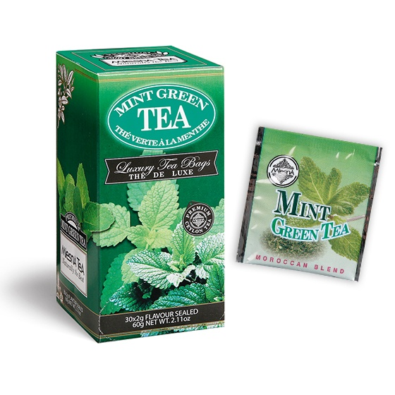 Čaje Mlesna Zelený čaj s mátovou esencí - čaj pro zdravý životní styl MLESNA (Ceylon) Ltd. pravý čaj z Cejlonu