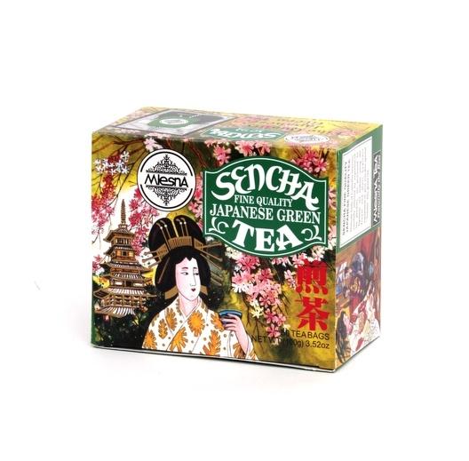 Čaje Mlesna Zelený čaj Sencha - japonská receptura zprcování MLESNA (Ceylon) Ltd. pravý čaj z Cejlonu