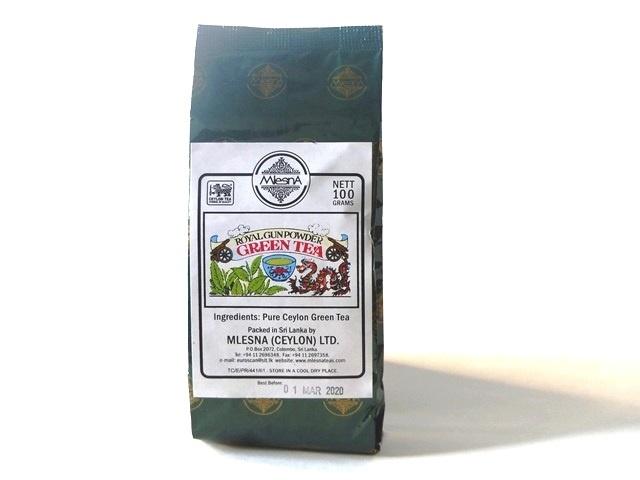 Čaje Mlesna Royal Gunpowder ze Srí Lanky MLESNA (Ceylon) Ltd. pravý čaj z Cejlonu
