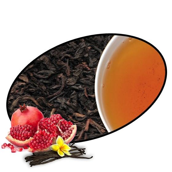 Čaje Mlesna MONKS - Granátové jablko a vanilka černý sypaný čaj - 100g MLESNA (Ceylon) Ltd. pravý čaj z Cejlonu