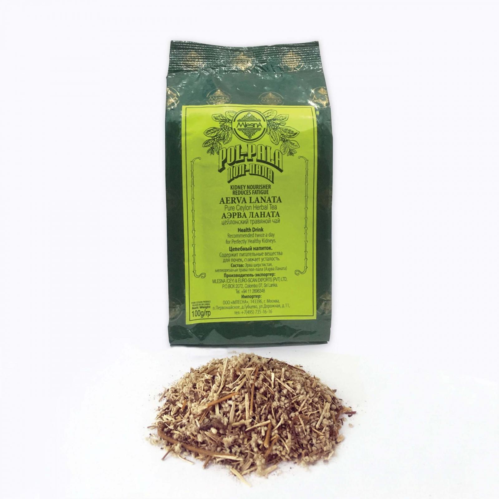 Čaje Mlesna POLPALA - bylinný čaj - laminát - 100g MLESNA (Ceylon) Ltd. pravý čaj z Cejlonu